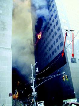 WTC 7 fires on east face